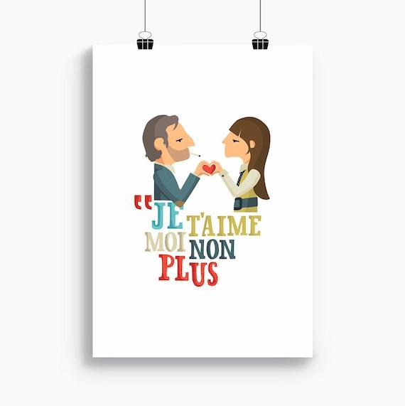 """Ilustración """" Serge Gainsbourg & Jane Birkin """"."""