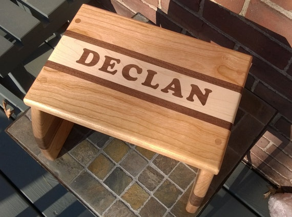 Enjoyable Step Stool Footstool Personalized Hand Inlaid Wooden Step Stool For Children Gmtry Best Dining Table And Chair Ideas Images Gmtryco