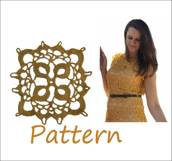 Dress plus size crochet pattern