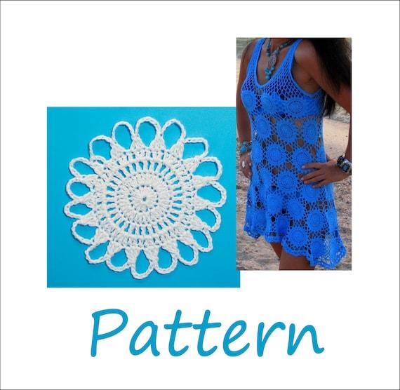 Crochet dress pattern for women Plus size swimwear tunic