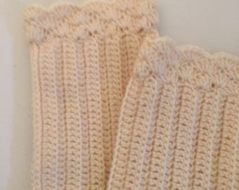 Leg warmers in white off color or SELECT COLOR boot Socks