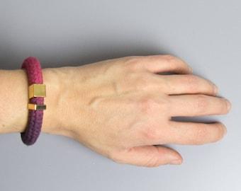 Purple Pink - Cord bracelet