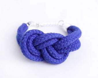 Electric Blue - Bracelet with sailor knot