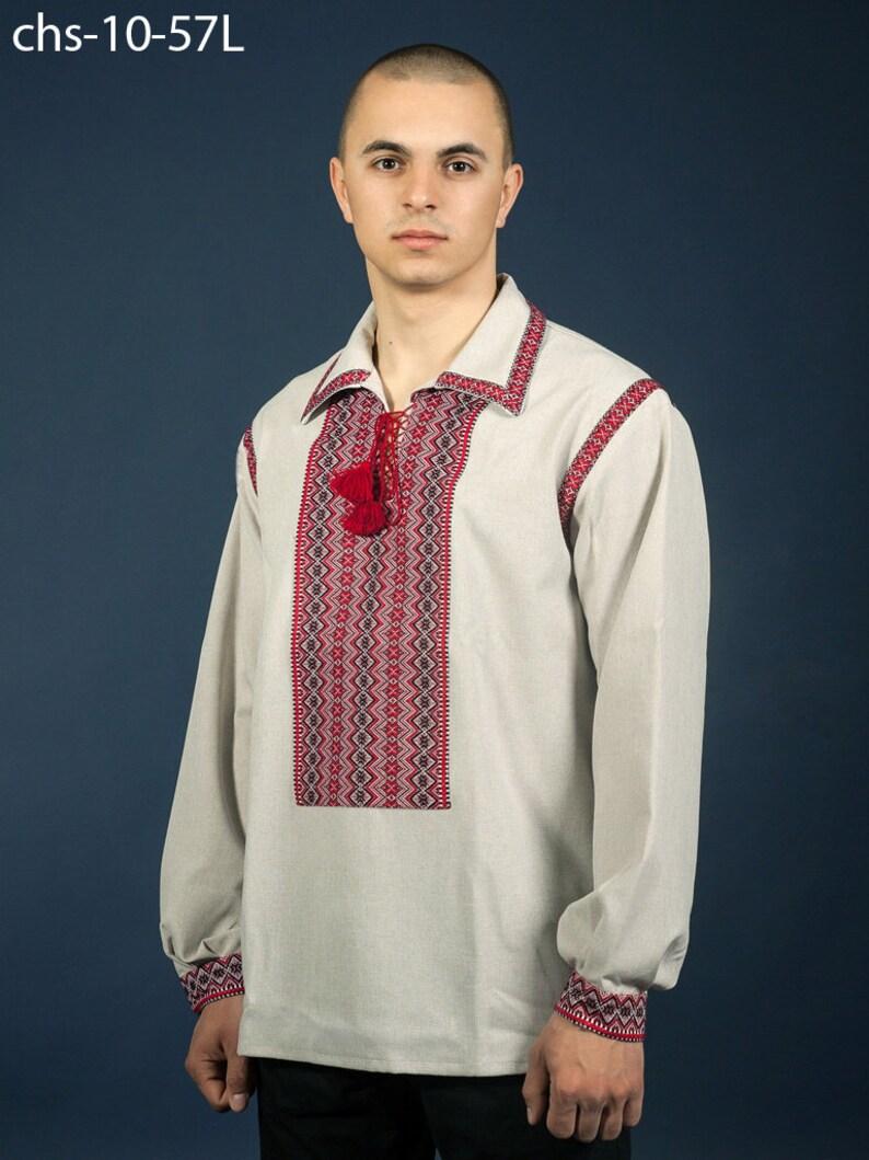 641c3bb7e9d Oekraïens geborduurd overhemd voor jongens en mannen. Traditionele  vyshyvanka van de Oekraïense mannen. 100% linnen, katoen XS-5XL. Oekraïense  ...