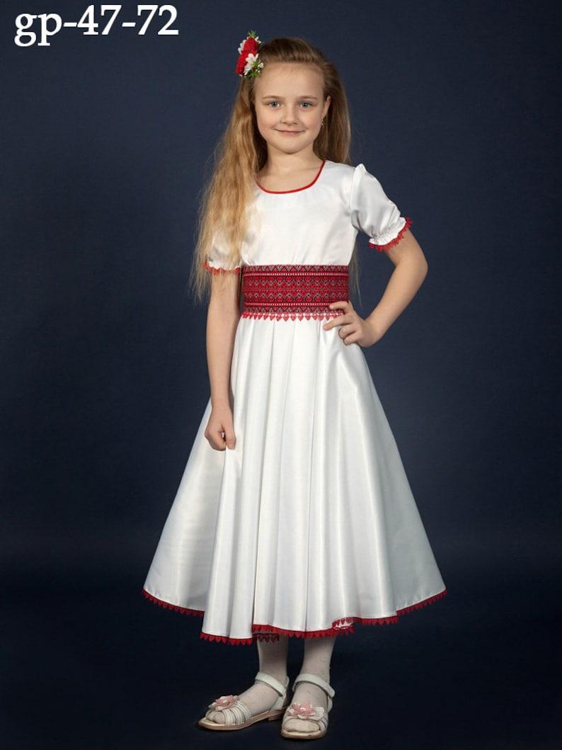 443a4d977 Vyshyvanka chicas. Bordado ucraniano vestido para las niñas.