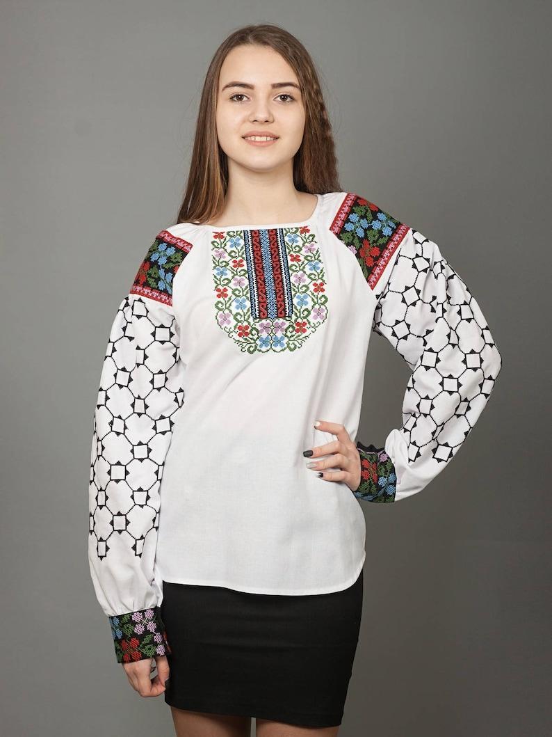 257a0c28fb30a3 Women vyshyvanka. Traditional Ukrainian embroidered | Etsy