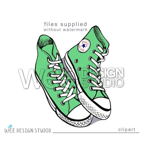 CONVERSE Chucks high Top Sneaker digitale Clipart Skizze Png Jpeg & Eps (persönliche oder kommerzielle Nutzung)