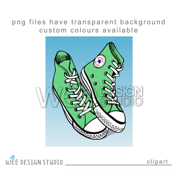 CONVERSE Chucks high top sneakers digital clipart sketch png jpeg & eps (personal or commercial use)