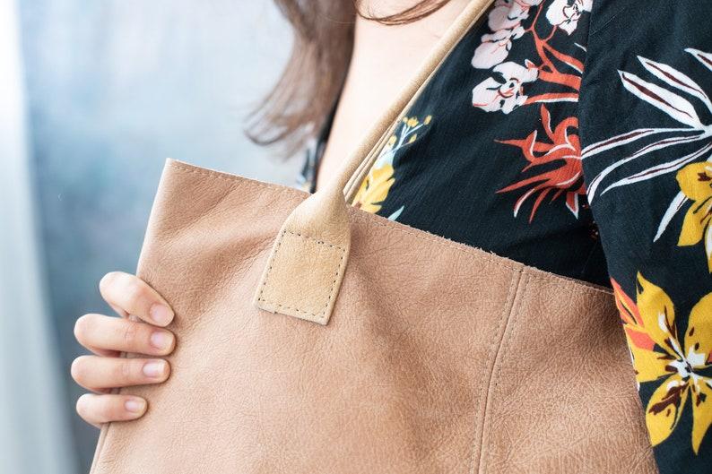 Tote Shoulder Bag Stylish Work Bag Ladies Shoulder Bag Tan Shoulder Bag Leather Work Handbag Tan Leather Tote Leather Tote Bag