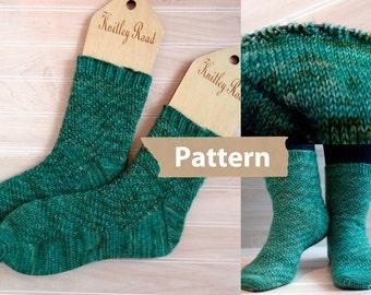S Socks, instant download pdf sock pattern, sock knitting pattern, adult sock knitting pattern