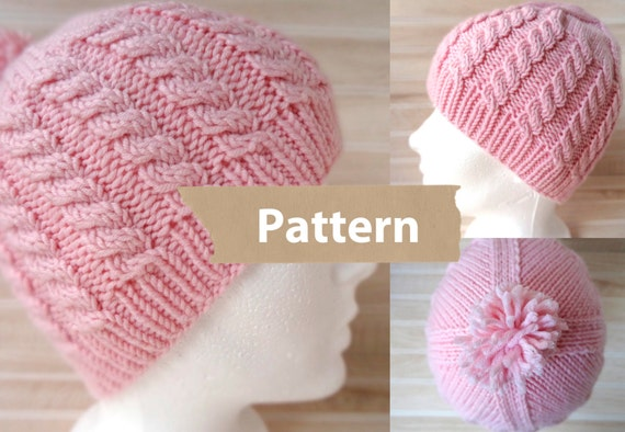 PDF PATTERN Instant Download-The Helix Hat winter hat  6dd1d19387a