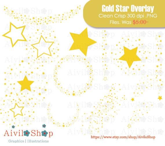 Gold Star Overlay HALF OFF : Confetti star frame banner | Etsy