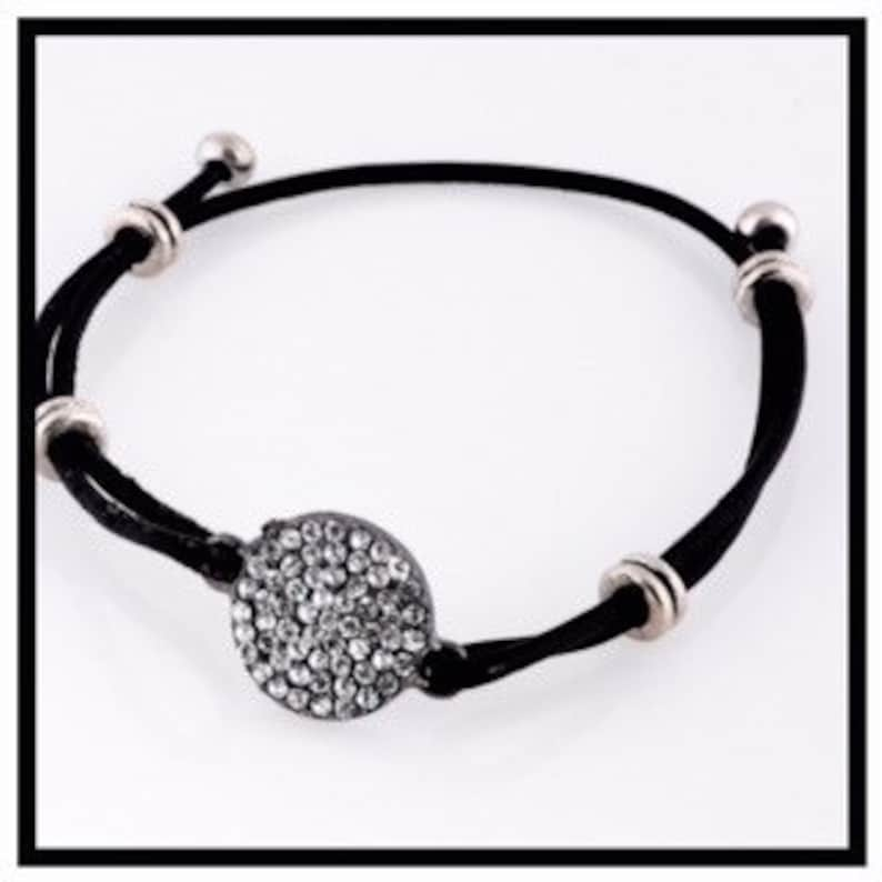 One of a Kind Leather Glam Bracelet One of a Kind image 0