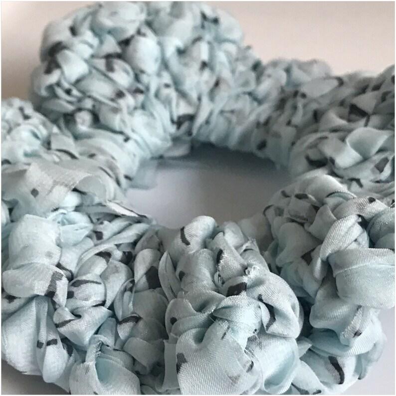 Baby Blue Chiffon Scrunchie image 0
