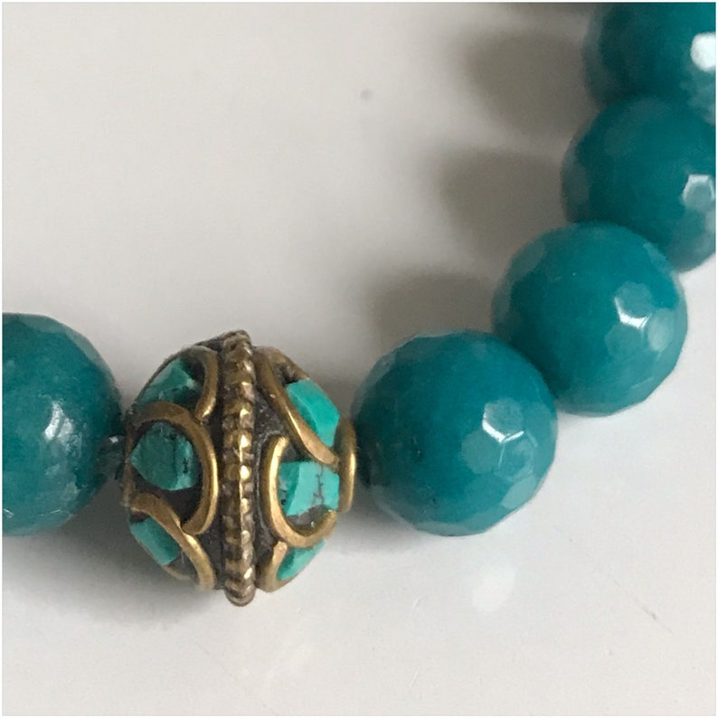 Beautiful Jade and and Turquoise Bracelet image 0