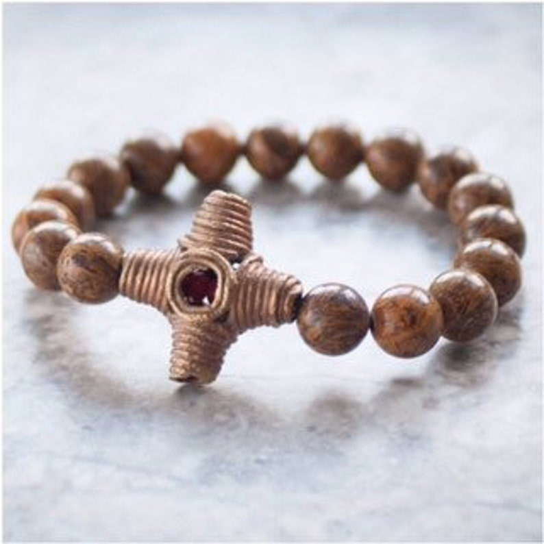 Imni Bracelet African Brass image 0