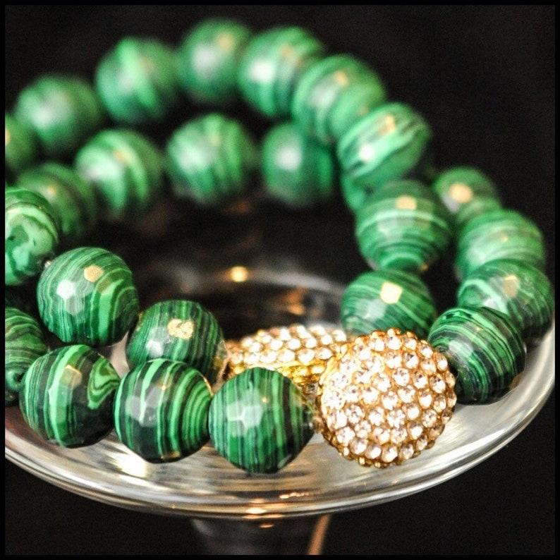 Beautiful Malachite Bracelet image 0