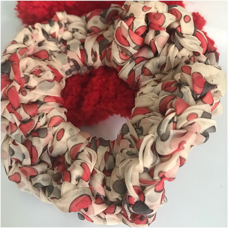 Scrunchie Charm Hand Crocheted image 0