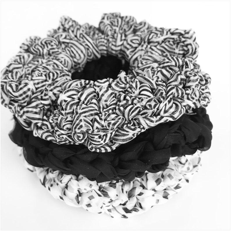 Diamond Design Scrunchie Hand Crocheted image 0