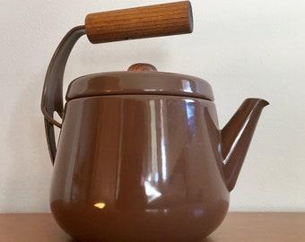 Seppo Mallat Finel Arabia Brown Enamel Teapot