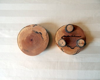 Yellow birch coasters, two-pack