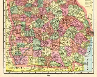 Georgia map | Etsy