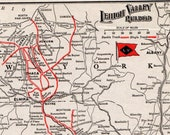1921 Antique Lehigh Valley Railroad Map Vintage Lehigh Valley Railway Map Birthday Gift for Dad Anniversary 10693