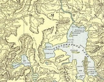 Yellowstone Karte.Yellowstone Karte Etsy