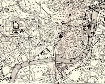 London Map Art Etsy