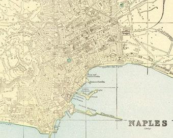 Naples italy map | Etsy