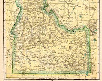 Idaho map   Etsy