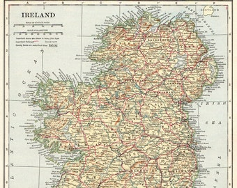 Map Of Ireland Picture.Map Of Ireland Etsy