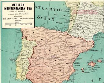 Mediterranean map | Etsy