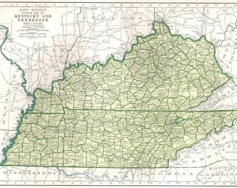 Kentucky map   Etsy