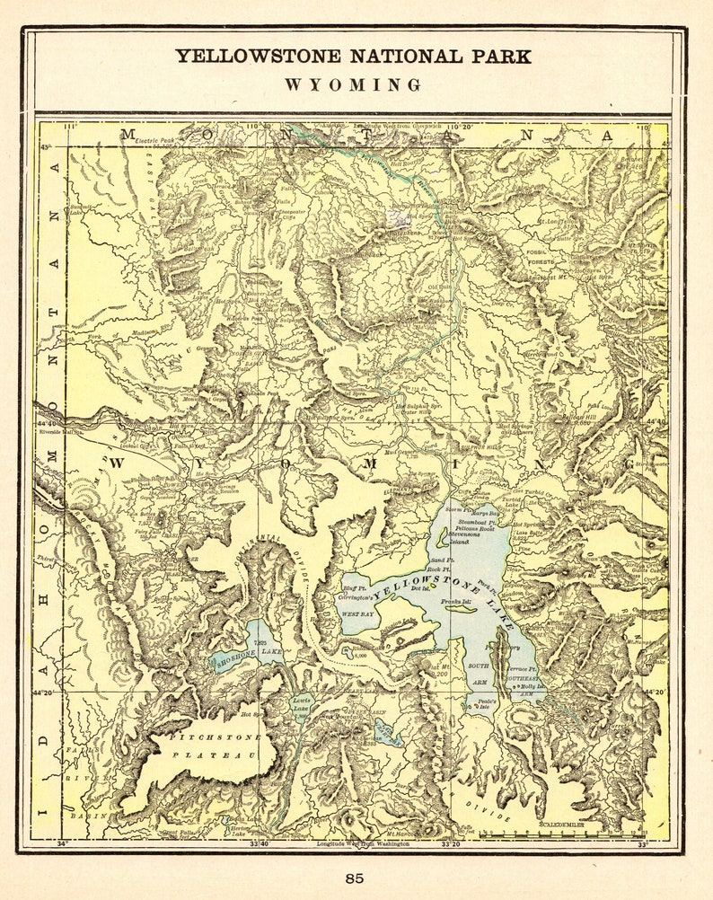 1901 Antique YELLOWSTONE National Park Map Of Yellowstone Wyoming Wall on california map, redwood national park map, south dakota map, rocky mountains map, texas map, sequoia national park, great smoky mountains national park, beaverhead national forest map, devils tower national monument, rocky mountains, grand canyon national park, grand teton national park, colorado map, western united states map, florida map, old faithful geyser, idaho map, grand prismatic spring, rocky mountain national park, yellowstone points of interest map, yellowstone caldera, glacier national park, everglades national park, yosemite national park, mississippi river map, grand teton map, mesa verde national park, mt rainier map, kentucky map, utah map, yellowstone lake, yellowstone river map, missouri map, statue of liberty, sequoia national park map, devils tower map,