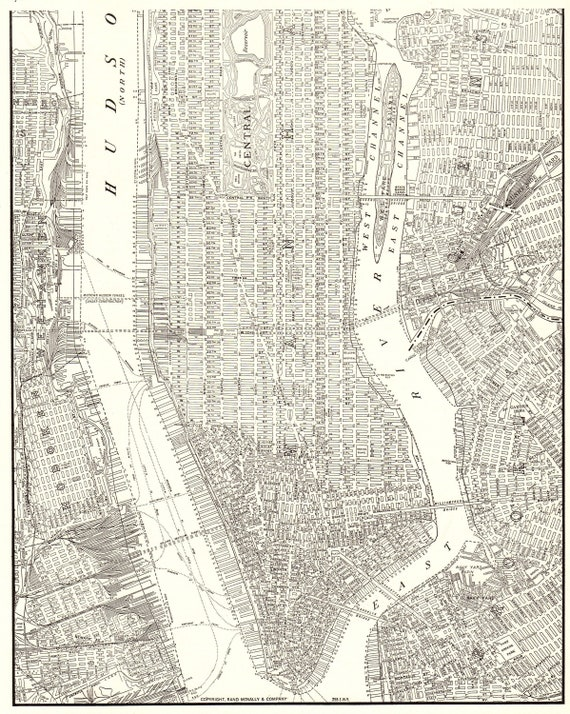 1937 Antique MAP of MANHATTAN Map Vintage New York City Map Modern on jersey city map, queens map, west village map, ny map, roosevelt island map, central park map, throgs neck bridge map, madison square garden map, new york map, harlem map, nassau county map, long island map, path map, randall's island map, murray hill map, times square map, fire island map, brooklyn map, lincoln center map, north brother island map,