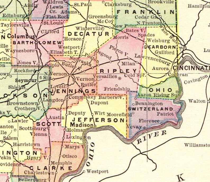1893 Antique INDIANA MAP of Indiana State Map Wall Art Gift for Birthday on salem in october, salem on halloween, salem logo, salem india, salem mall, salem golf club, salem capitol building, salem tv,