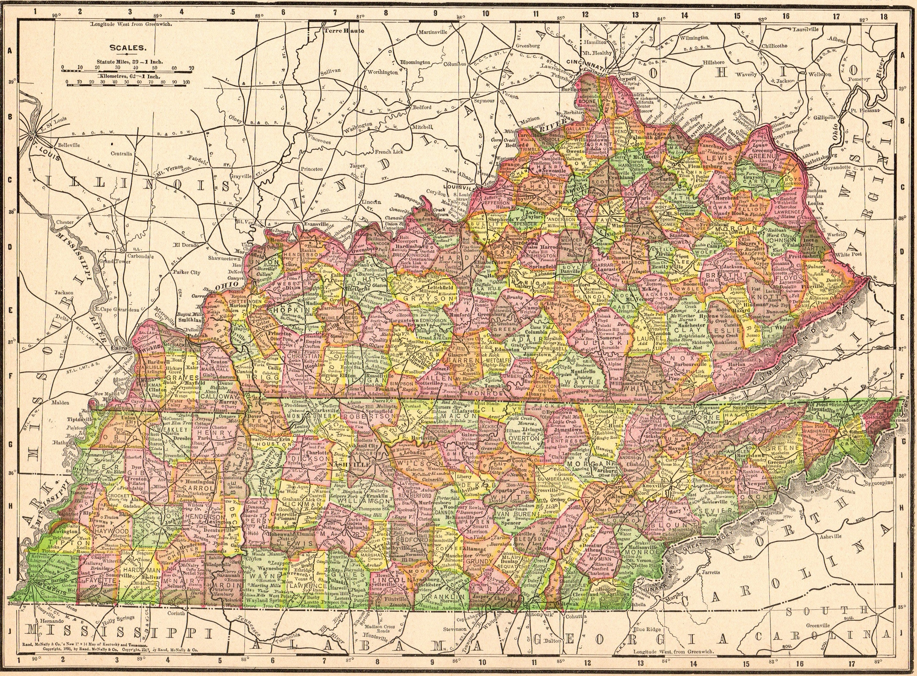 1909 Antique KENTUCKY TENNESSEE State Map Vintge Map of Kentucky Gallery on kentucky state travel map, kentucky and tennessee county maps, kentucky state county map, kentucky state fair map, indiana tri-state maps, hancock county property maps, kentucky wall maps, state of tennessee district maps, kentucky state zip code map, kentucky and virginia maps, kentucky state university map, kentucky state information, kentucky and surrounding states map, kentucky state parks campgrounds, ky parks and maps, kentucky frontier maps, kentucky department of transportation maps, colorado elk concentration maps, google maps, kentucky and its capital,