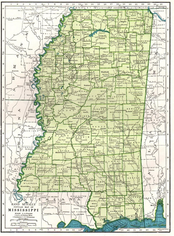 Adaptable image with regard to printable map of mississippi