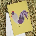 Easter gift  set of 5 postcards with rooster