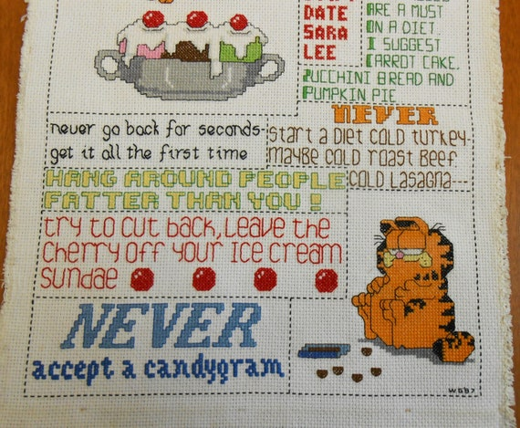 signing and dating cross stitch