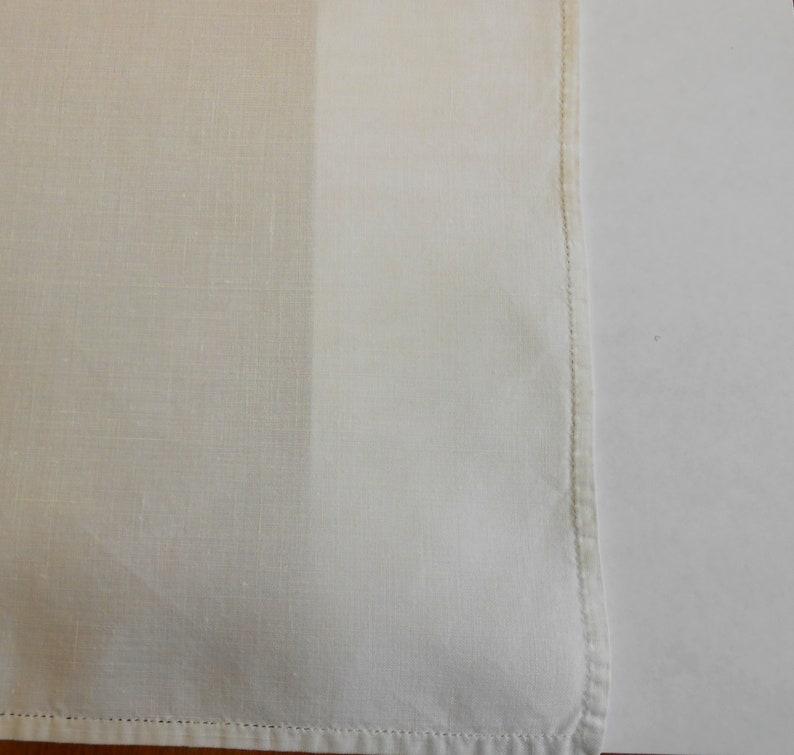 11 Linen Napkins Pale Ivory Vintage Hemstitching Matching Set of 11 Luncheon Size 12 Elegant Party Holiday Wedding Napkin Set