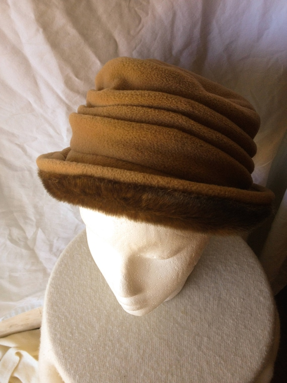 Faux Fur Cloche Bucket Brown Winter Hat FREE SHIPP