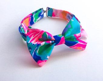 Boy's Lilly Pulitzer Jungle Utopia Fabric Bow Tie