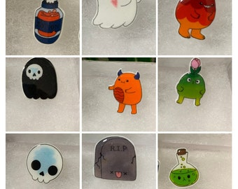 hand crafted collectible monster pins