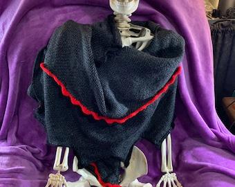 knit dragon skin shawl/ scarf