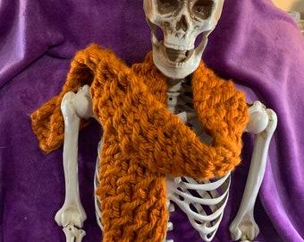knit chunky yarn scarf