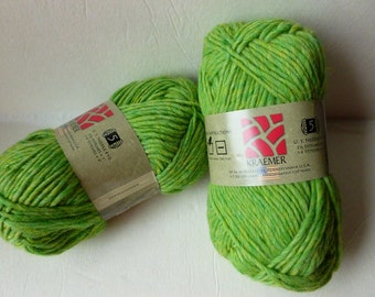 100 gm Felting Wool 20/% off Retail Mint Julep Mauch Chunky by Kraemer Yarns
