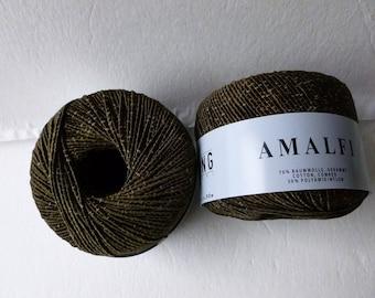 Yarn Sale  Dark Chocolate #68  and Tan #96  Amalfi by Lang Yarn