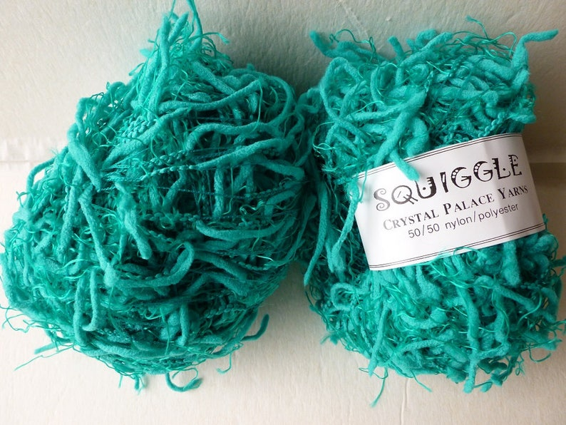Neptune Teal 2267 Squiggle Solid by Crystal Palace Yarns